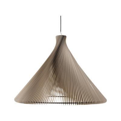 Exkluzív függesztett mennyezeti lámpa, széles, bézs  - RONDO WIDE